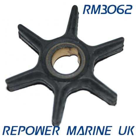 Impeller for Mercury, Mariner 6, 8, 9.9,10,15 HP Outboard, Replaces #: 47-42038