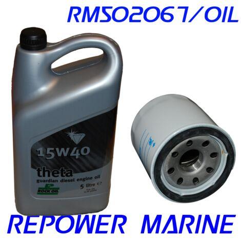 Marine Oil & Filter for Yanmar, 1GM, 1GM10, 2GM, 2GM20, 3GM