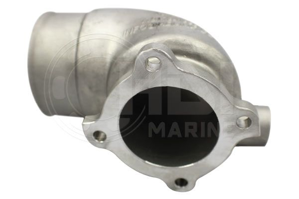 Yanmar 4LH-DTE, 4LH-DTZ Stainless Elbow, Repl: 119173-13501