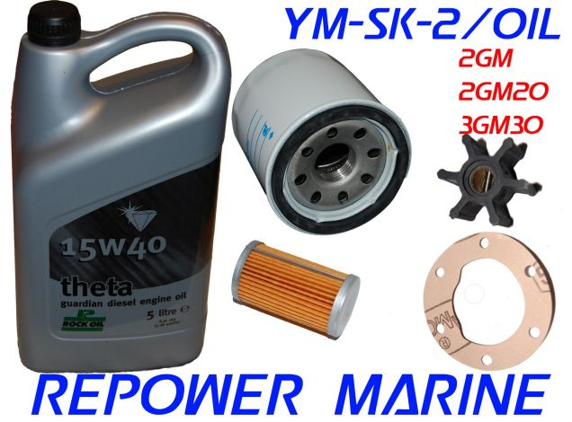 Service Kit 2 & Oil for Yanmar Marine 2GM, 2GM20, 3GM, 3GM30