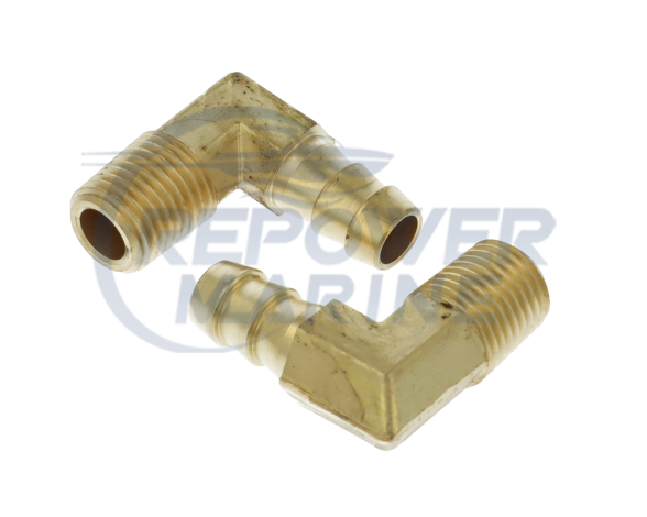 """3/8"""" ID (10mm) 90 Degree Hose Tails for Fuel Filter Assemblies"""