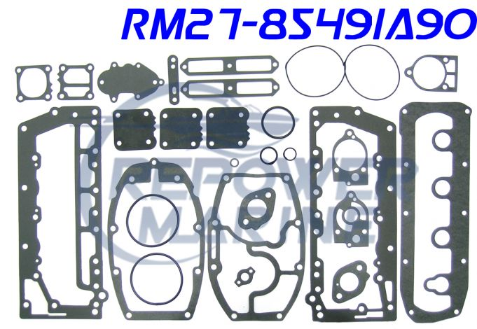 Powerhead Gasket Set for Mercury 40 HP 4CYL, Repl: 27-85491A90