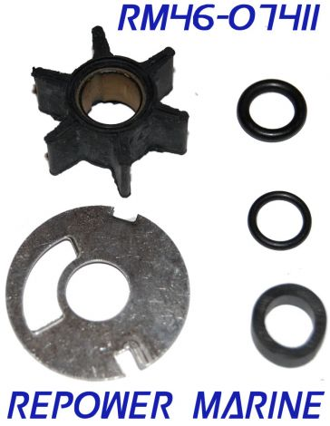 Water Pump Kit for Mercury 3.5, 3.6, 4, 4.5, 7.5, 9.8 HP Replaces #: 47-89981 Q1