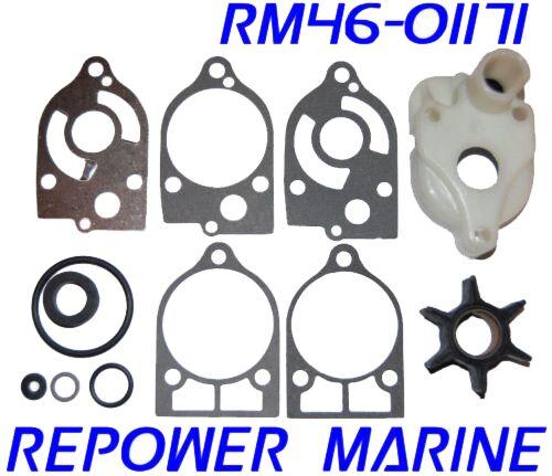 Water Pump Kit for Mercury, Mariner 35, 40, 45, 50, 60, 70 HP, 47-60366Q1