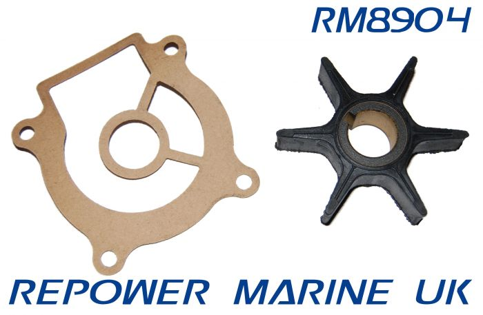 Impeller & Gasket for Suzuki 20 - 50 DT & DF Outboard, Replaces: 17461-96301
