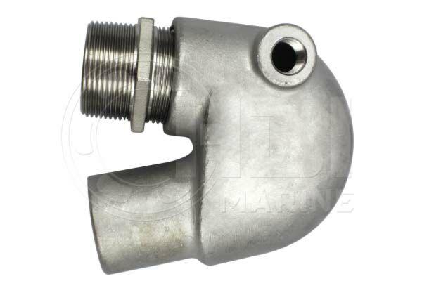 Yanmar Stainless Steel Exhaust Elbow GM series Repl: 12470-13520, 104214-13531
