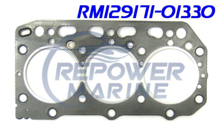Cylinder Head Gasket for Yanmar 3JH2, Repl: 129171-01330