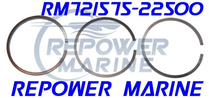 Piston Ring Set for Yanmar 1GM10, 2GM20, 3GM30, Repl: 721575-22500