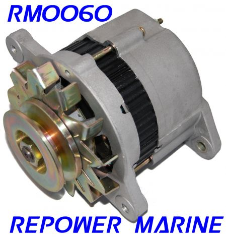 35 AMP Alternator for Yanmar Marine, replaces 128270-77200