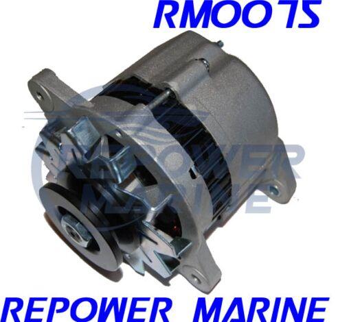 35 AMP Alternator for Yanmar Marine, Replaces: 128171-77200