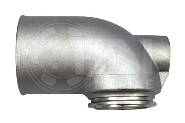 Yanmar 4LHA, 6LP Stainless Exhaust Elbow, Repl: 119773-13500, 119773-13510