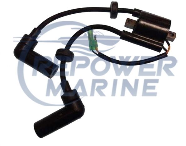 Ignition Coil Assembly for Yamaha 9.9 & 15 HP, Replaces 66M-85570-00