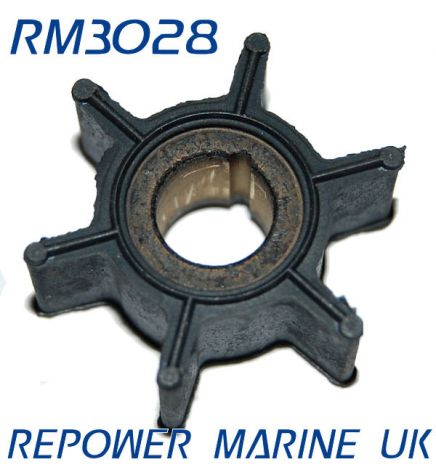 Impeller for Tohatsu 2.5, 3.5, 4, 5, 6 HP Outboard replaces #: 369-65021-1