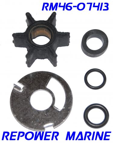 Water Pump Kit for Mercury Outboard 3.5, 3.6, 4 HP, Replaces: 47-89980, 47-68988