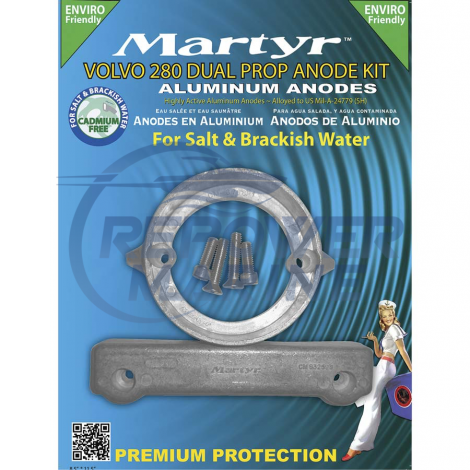 Martyr Aluminium Anode Kit for Volvo Penta 280 DP Sterndrive
