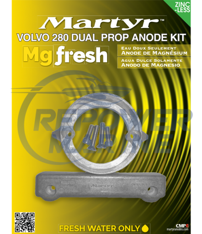 Martyr Magnesium Anode Kit for Volvo Penta 280 DP Sterndrive