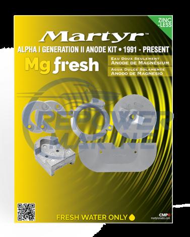 Martyr Magnesium Anode Kit for Mercruiser Alpha Gen II, 888755A1