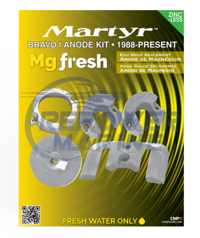 Martyr Magnesuim  Anode Kit for Mercruiser Bravo I, 888757A1, 888757Q02