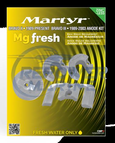 Martyr Magnesium Anode Kit for Mercruiser Bravo 2 & 3, 888760Q03