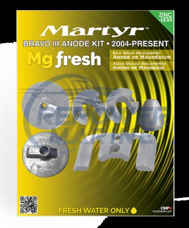Martyr Magnesium Anode Kit for Mercruiser Bravo 3 2004 - UP, 888760Q04