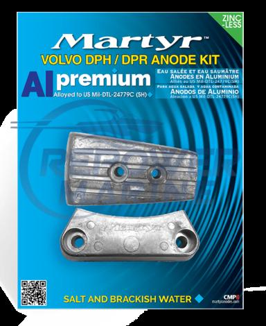 Martyr Aluminium Anode Kit for Volvo Penta DPH Sterndrive