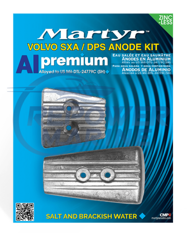 Martyr Aluminium Anode Kit for Volvo Penta SX-A, DPS-A Sterndrive
