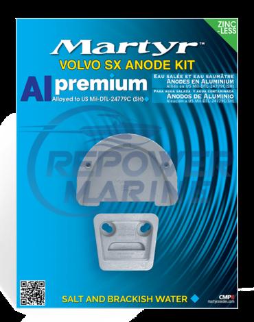 Martyr Aluminium Anode Kit for Volvo Penta SX & DP-SM Sterndrive