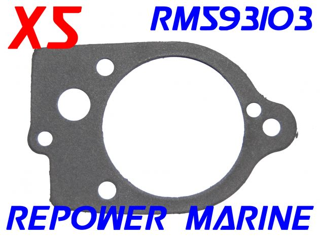 5 x Water Pump Gaskets for Mercury 47-89982, 27-32770, 47-865958