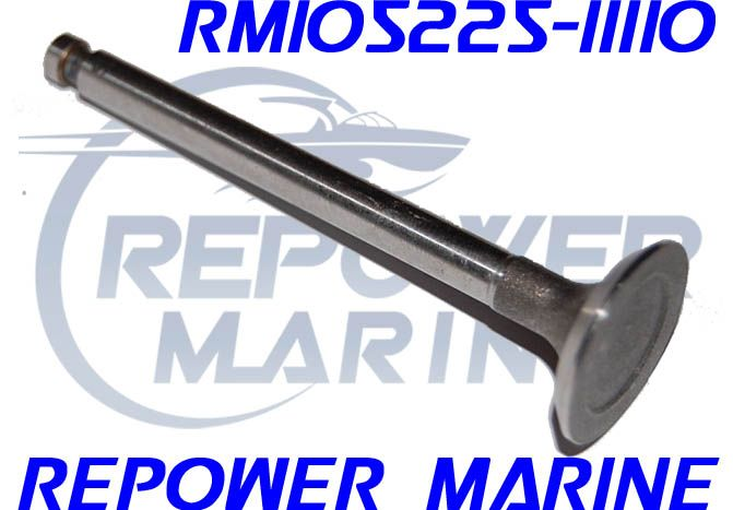 Exhaust Valve for Yanmar Marine GM Series, Repl: 105225-11110