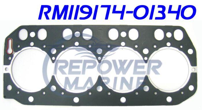 Cylinder Head Gasket for Yanmar 4LH, 4LHA, Repl: 119174-01340
