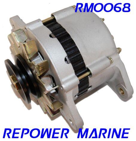 55 Amp Alternator for Yanmar Marine, Replaces: 129772-77200