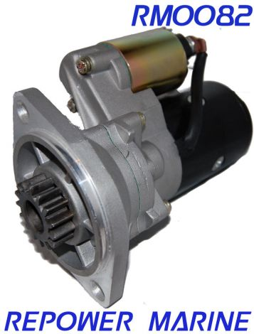 Marine Starter for Yanmar 3JH2, 3JH3, 4JH Replaces: 129573-77010, 171008-77010