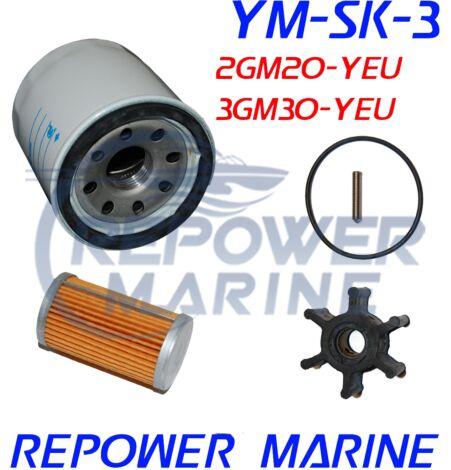 Service Kit 3 for Yanmar Marine 2GM20-YEU, 3GM30-YEU, 2YM15, 3YM20, 3YM30
