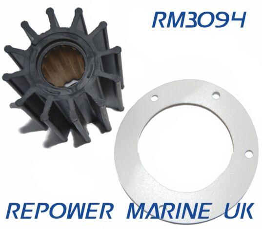 Impeller & Gasket, Replaces Yanmar #: 119574-42550, 119574-42552