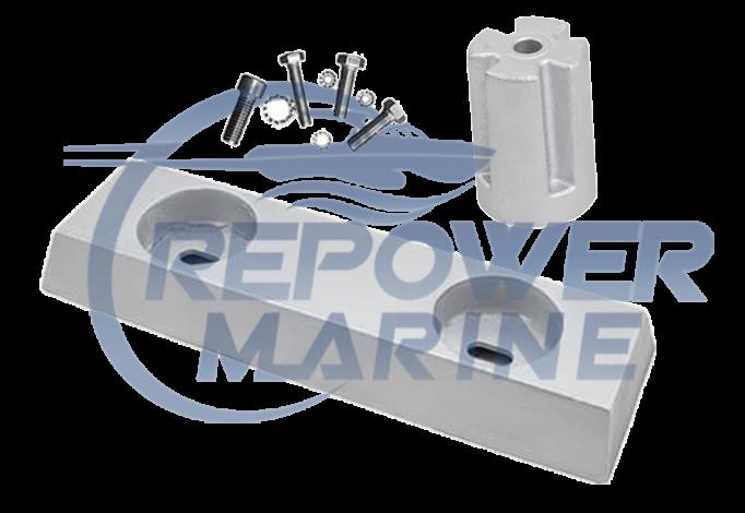 Zinc Anode Kit for Volvo Penta IPS, Repl: 3889901, 3593981, 21174476