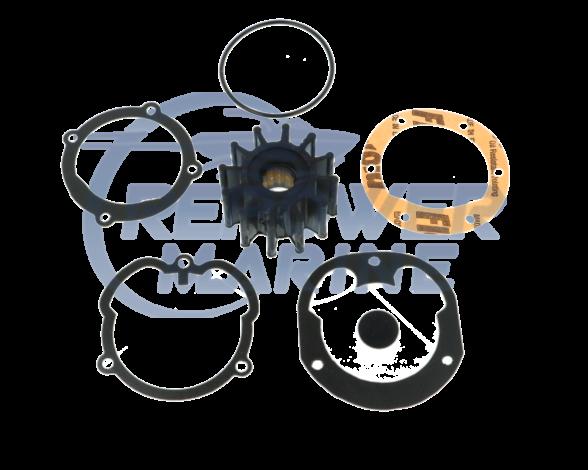 Impeller Kit Replaces Volvo Penta #: 21951346, 3862281. 3855546, 3856039