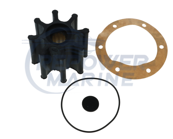Impeller & Gasket for Yanmar, Replaces #: 127610-42200, 120650-42310