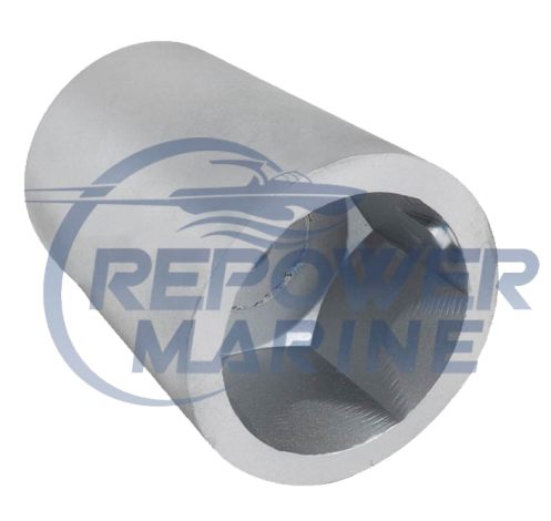 50mm Radice Hex Propeller Nut Zinc Anode
