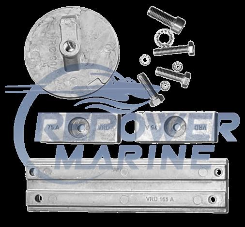 Aluminium Anode Kit for Mercury Verado / Optimax 4 Cylinder