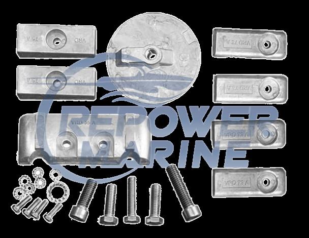Aluminium Anode Kit for Mercury Verado / Optimax 6 Cylinder